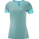 Salomon Trail Runner SS Tee Women blue curacao/charcoal